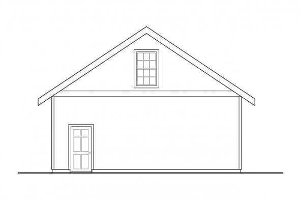Two Car Garage Plan 20-083 - Right Elevation