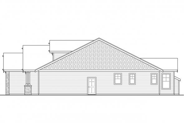 Ranch House Plan - Brookstone 31-066 - Right Elevation