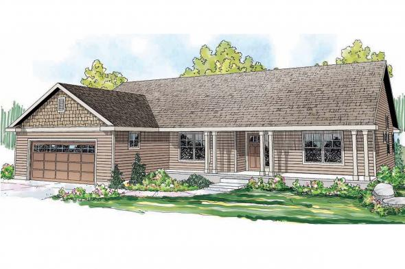 Ranch House Plan - Fern View 30-766 - Front Elevation