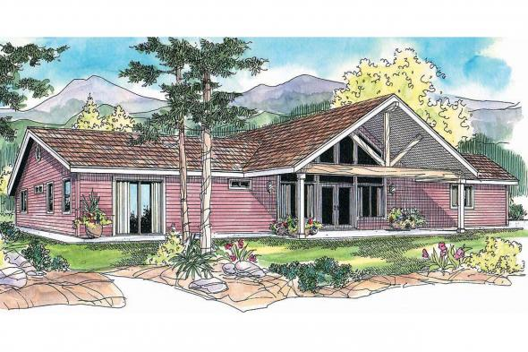 Ranch House Plan - Ottawa 30-601 - Front Elevation