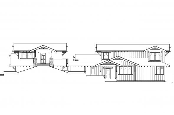 Sloping Lot House - Meriweather 30-502 - Right Elevation