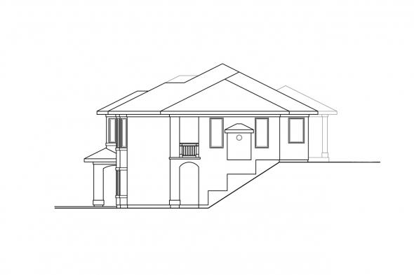 Sloped Lot House Plan - Stratton 31-184 - Right Elevation