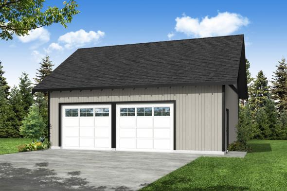 Garage Plan 20-083 - Front Elevation