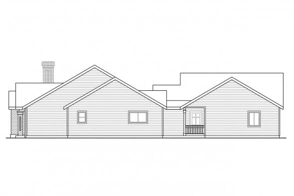 Traditional House Plan - Ardella 30-785 - Right Elevation
