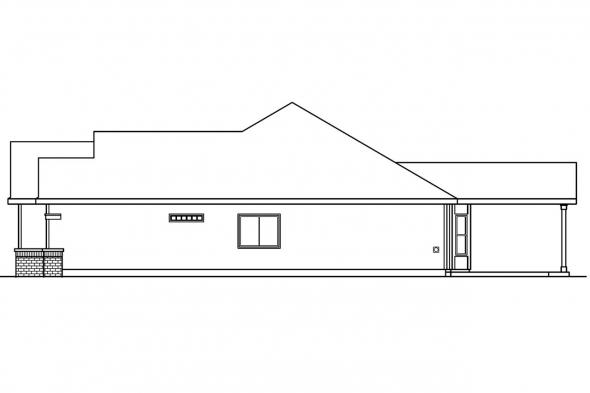 Traditional House Plan - Chadbryne 30-577 - Right Elevation