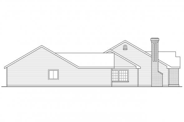 Traditional House Plan - Darrington 30-941 - Left Elevation