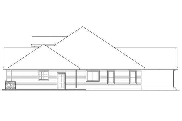 Traditional House Plan - Jamestown 30-827 - Right Elevation