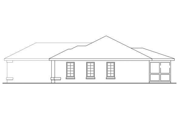 Traditional House Plan - Lamar 11-106 - Right Elevation