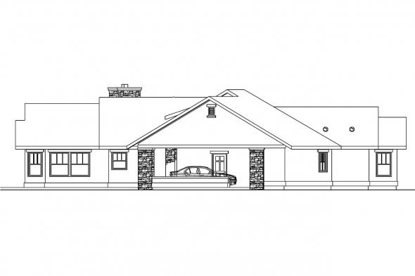 Tuscan House Plan - Burnside 30-657 - Right Elevation
