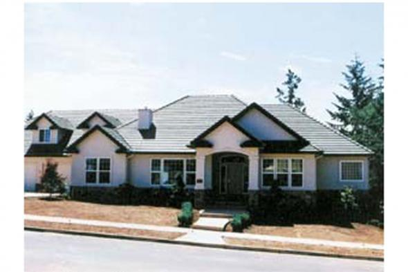 Tuscan House Plan Photo - Meridian 30-312 - Front Elevation