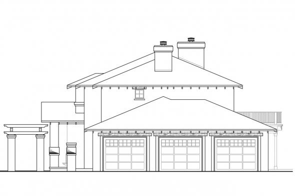 Tuscan House Plan - Vercelli 30-491 - Right Elevation