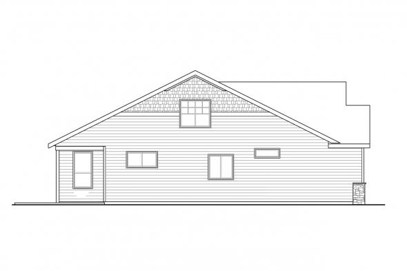 Two Story House Plan - Amarillo 31-139 - Left Rendering