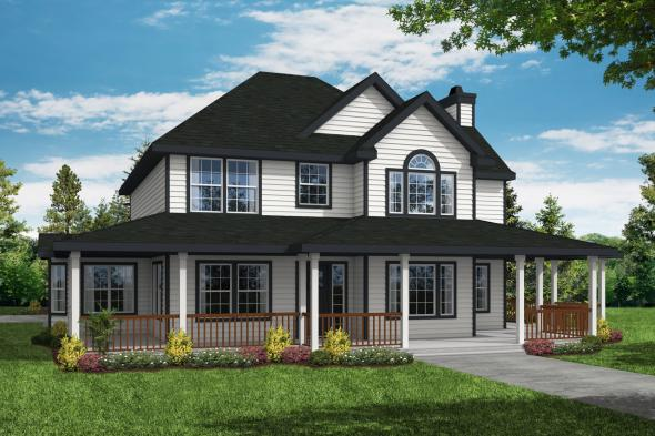 Country House Plan - Atkinson 30-060 - Front Elevation