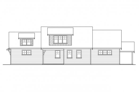 Two Story House Plan - Winlock 31-201 - Right Elevation