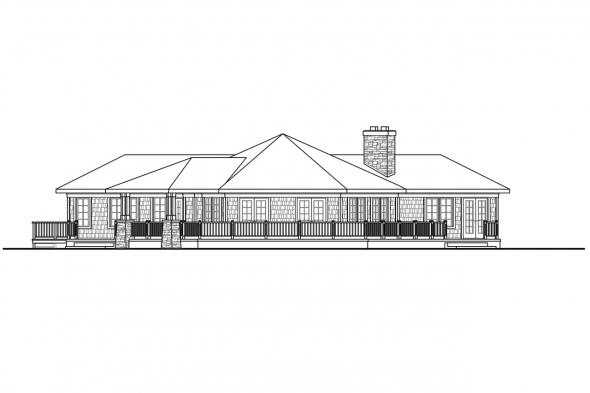 View House Plan Illahe 10-575 Rear Elevation