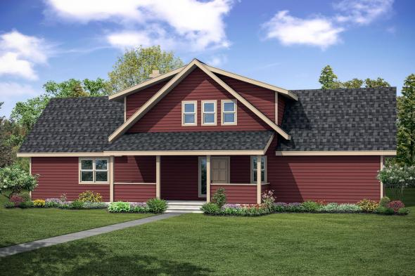 View Lot House Plan - Alpenview 31-003 - Front Elevation
