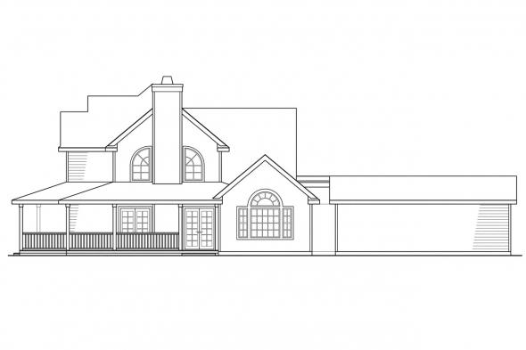 View Lot House Plan - Atkinson 30-060 - Right Elevation
