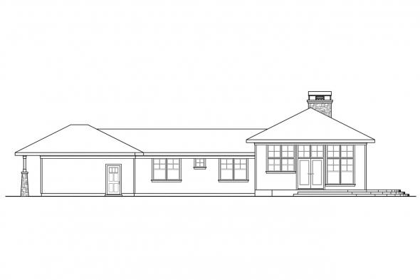 View Lot House Plan - Heartview 50-015 - Rear Elevation