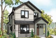 Contemporary Home Plan - Larkspur II 30-882 - Front Elevation
