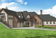 Craftsman House Plan - Harrington 31-195 - Front Elevation