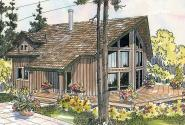 A-Frame House Plan - Arnett 30-419 - Side/Rear Elevation