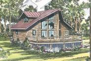 A Frame House Plan - Sylvan 30-023 - Front Elevation