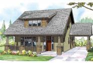 Bungalow House Plan - Blue River 30-789 - Front Elevation