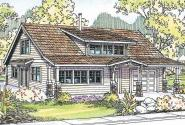 Bungalow House Plan - Dorset 30-454 - Front Elevation