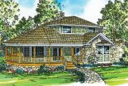 Cape Cod House Plan - Lakeview 10-079 - Front Elevation