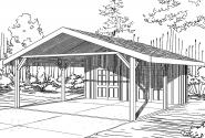 Carport Plan 20-094 - Front Elevation