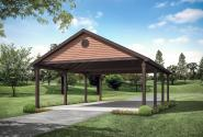 Traditional Carport Plan 20-262 - Front Elevation
