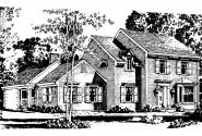 Colonial House Plan - Iverness 42-008 - Front Elevation
