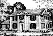 Colonial House Plan - Rossford 42-006 - Front Elevation