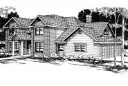 Colonial House Plan - Willmar 30-048 - Front Elevation