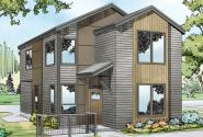 Contemporary House Plan - Alder Ridge 30-906 - Front Elevation
