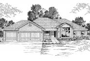 Contemporary House Plan - Anniston 10-304 - Front Elevation
