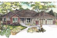 Contemporary House Plan - Beaufort 30-630 - Front Elevation