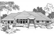 Contemporary House Plan - Belvedere 30-280 - Front Elevation
