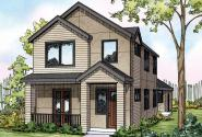 Contemporary House Plan - Eastlake 30-869 - Front Elevation