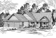 Contemporary House Plan - Edgemont 30-136 - Front Elevation