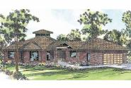 Contemporary House Plan - Palmyra 10-169 - Front Elevation