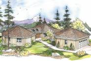 Contemporary House Plan - Ravendale 10-523 - Front Elevation