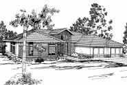 Contemporary House Plan - Riveria 11-072 - Front Elevation