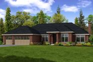 Contemporary House Plan - Westbrook 30-065 - Front Elevation