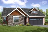 Cottage House Plan - Brookstone 31-066 - Front Elevation