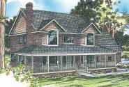 Country House Plan - Cimarron 10-208 - Front Elevation