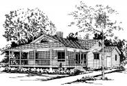 Country House Plan - Demerara 41-004 - Front Elevation