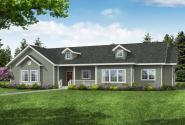 Country House Plan - Endicott 30-931 - Front Elevation