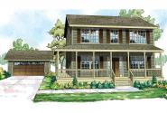Country House Plan - Green Acres 70-003 - Front Elevation