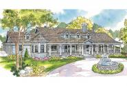 Country House Plan - Louisville 10-431 - Front Elevation